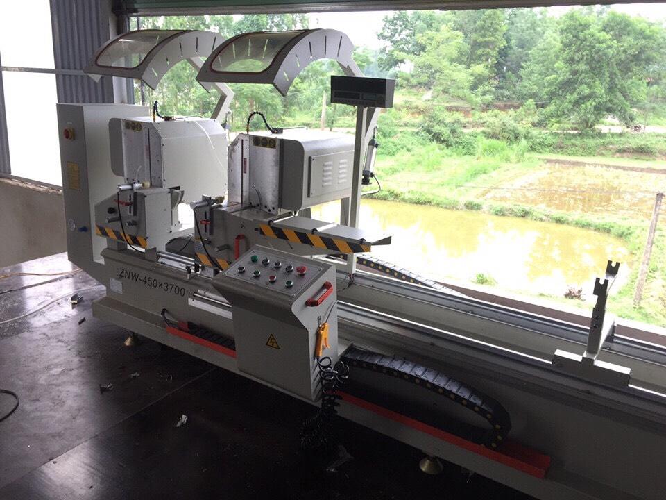 Máy cắt nhôm 2 đầu tích hợp thước điện tử Zhen Fei ZNW-450×3700