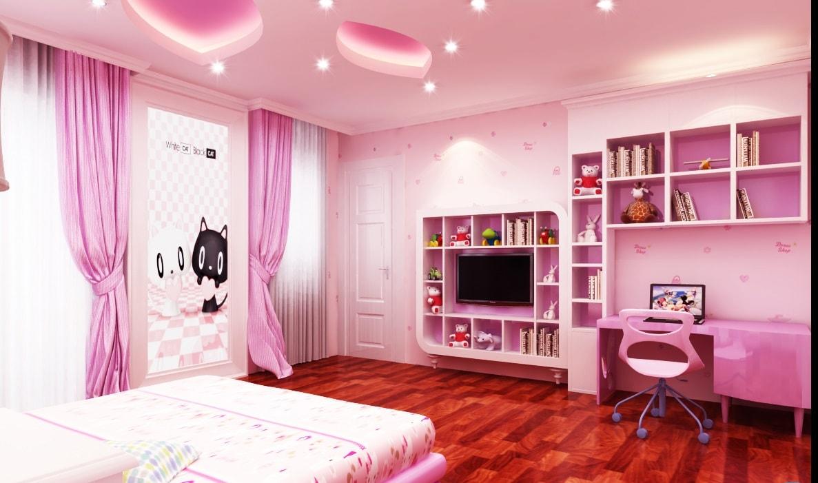 Chọn những món đồ nội thất phòng ngủ cho bé màu hồng