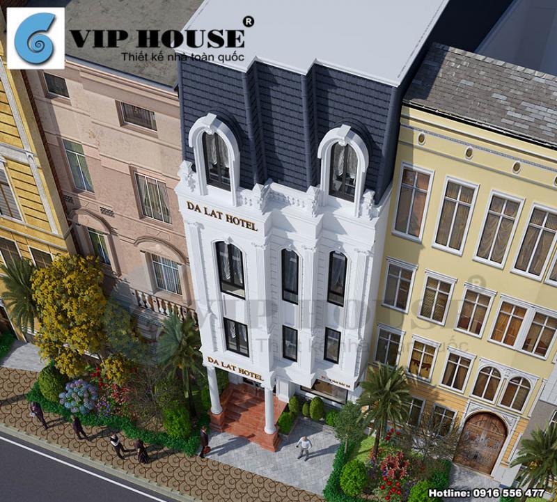 Thiết kế khách sạn đẹp tân cổ điển tại Đà Lạt