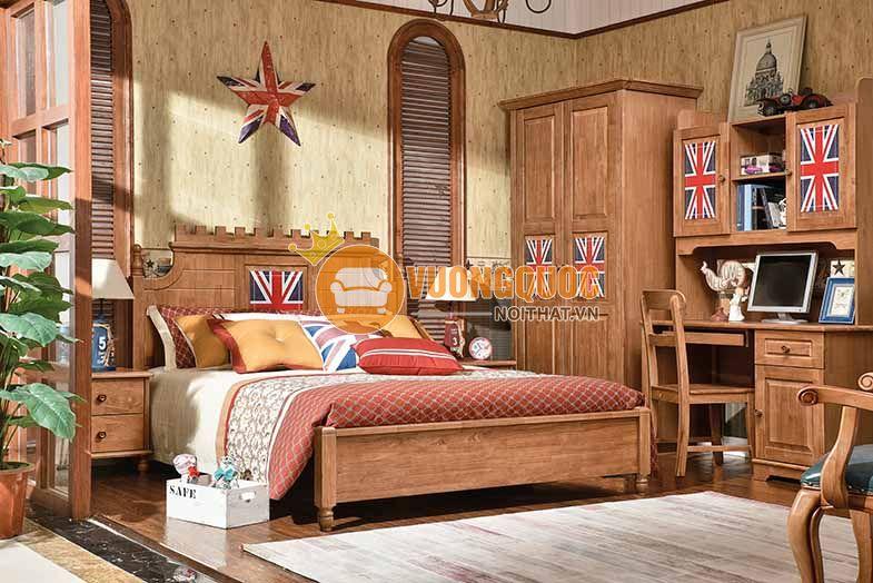 Trang trí phòng ngủ cho bé trai 12 tuổi bằng sắc gỗ ấm