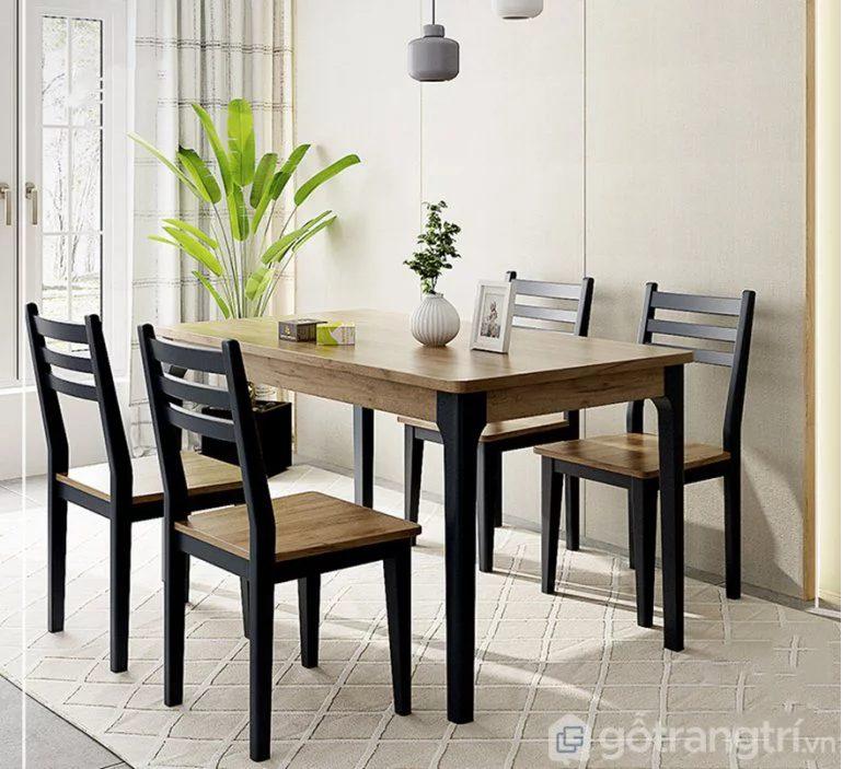 bàn ăn gỗ sồi gia đình